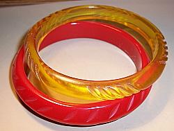 Carved Composition Bracelets - Antique & Collectible Exchange