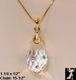 Lucite Rhinestone Pendant Necklace: Lucite Crystal Pendant - Antique & Collectible Exchange :  jewelry lucite pendant droplet teardrop