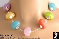 Multi Color Beads Necklace Earrings - Antique & Collectible Exchange :  jewelry pastels multicolored lucite