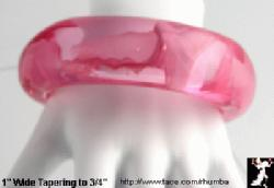 Lucite Bangle Bracelet: Chunky Pink Acrylic Bangle Bracelet - Antique & Collectible Exchange :  bangle jewelry tace lucite bangle